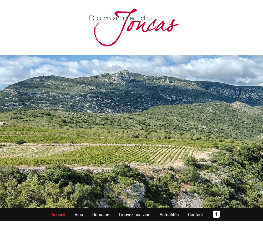 Création Site Internet : Domaine Du Joncas (Montpeyroux, 34)