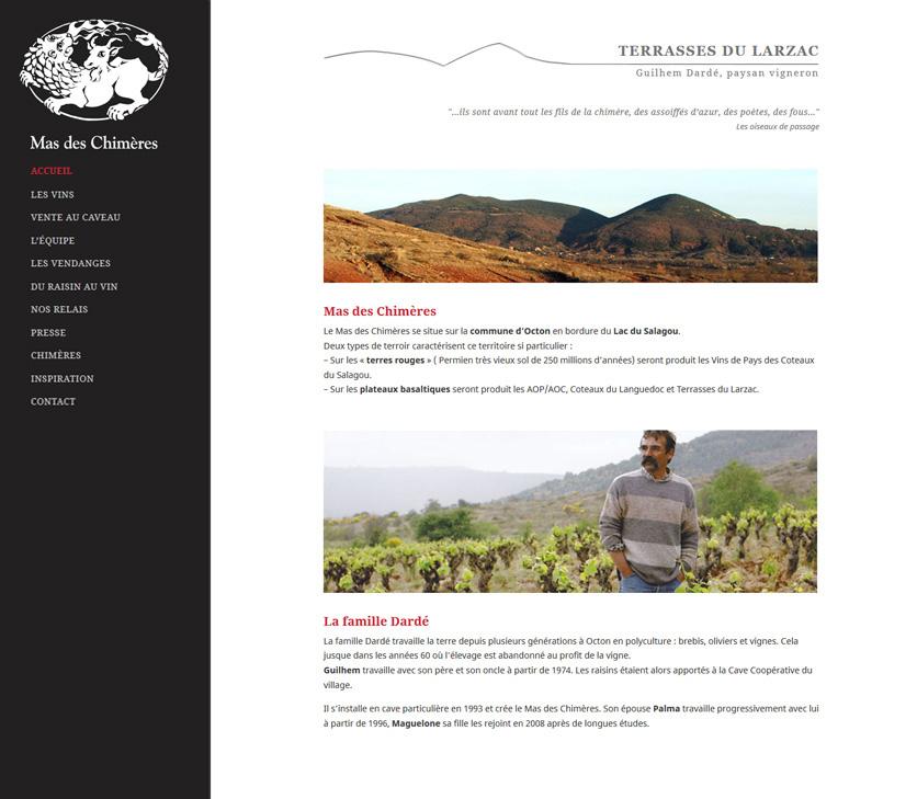 Création Web - Mas Des Chimeres