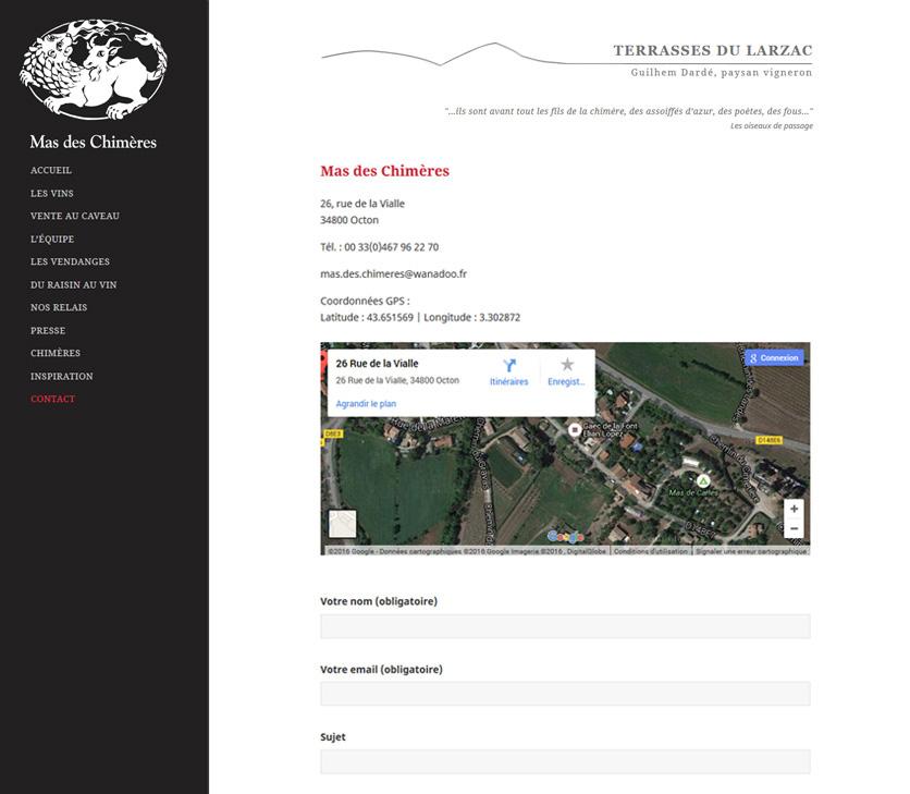 Création De Site Web - Mas Des Chimeres