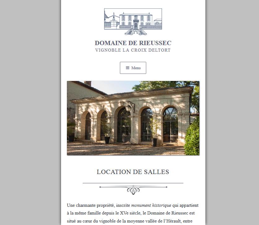 Web Design Responsive : Domaine De Rieussec