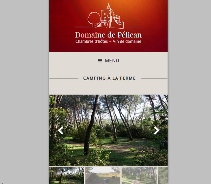 Web Design Responsive : Domaine De Pélican (Hérault)