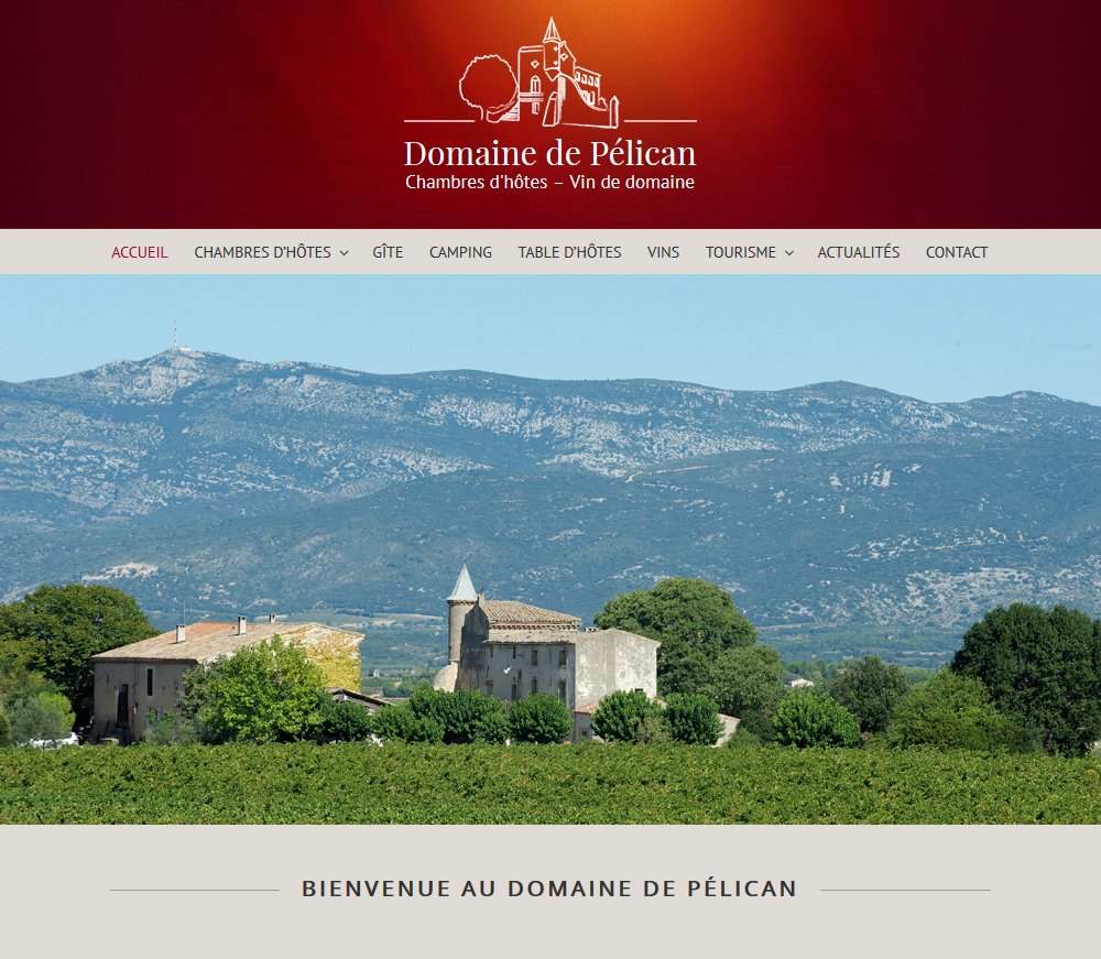 Création De Site Web : Domaine De Pélican (Gignac, Hérault)