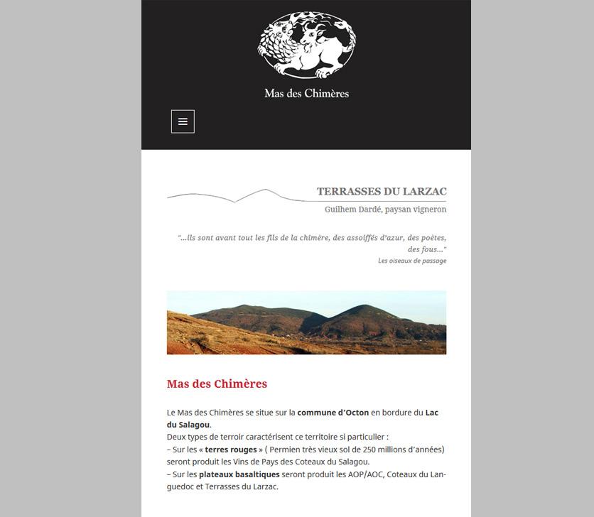 Responsive Design - Mas Des Chimeres
