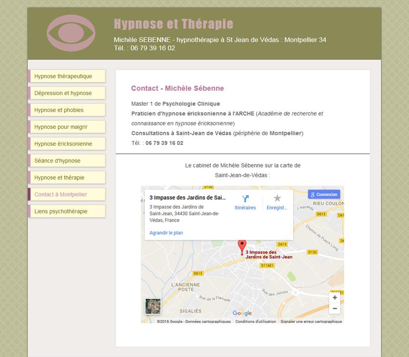 Projekt Strony Terapeuty Hipnozą