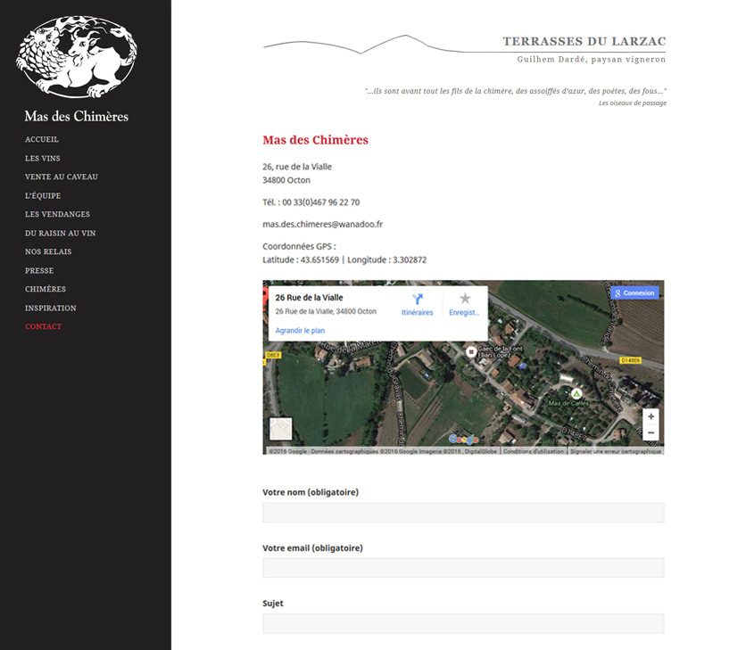 Projekt Strony Internetowej Mas-chimeres 2