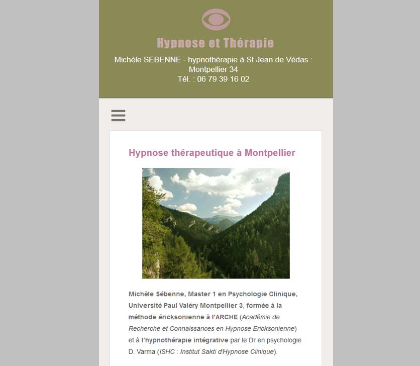 Projekt Wersji Mobilnej Strony Terapeutki Hipnozą