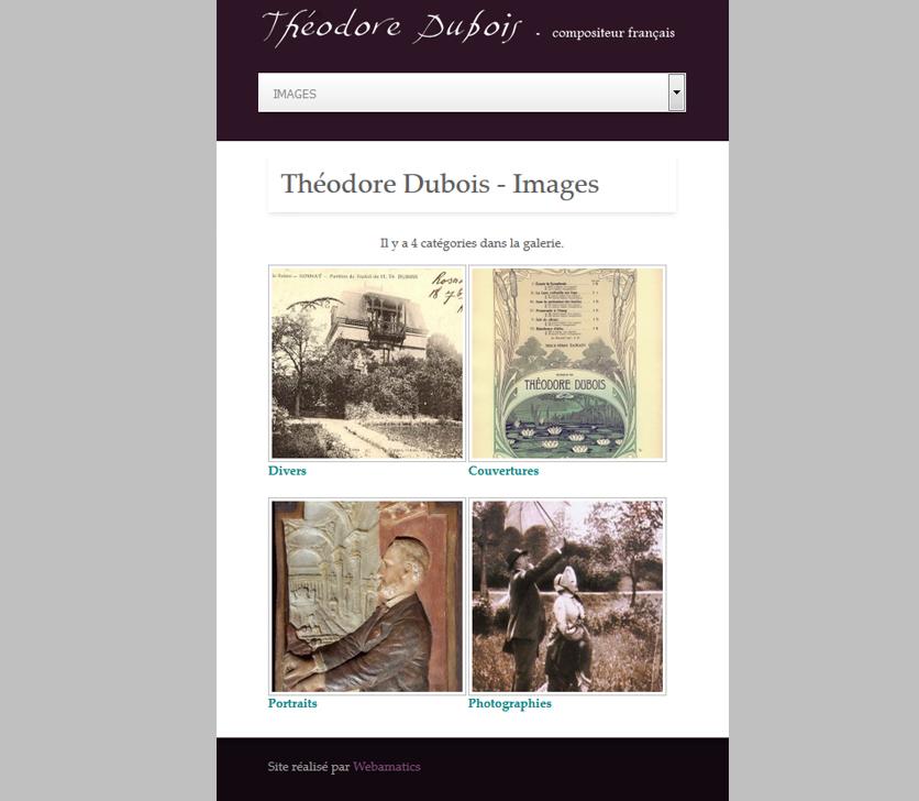 Wersja Mobilna Strony Theodore Dubois