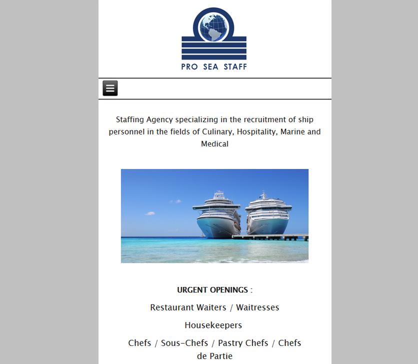 Wersja Mobilna Strony Pro Sea Staff