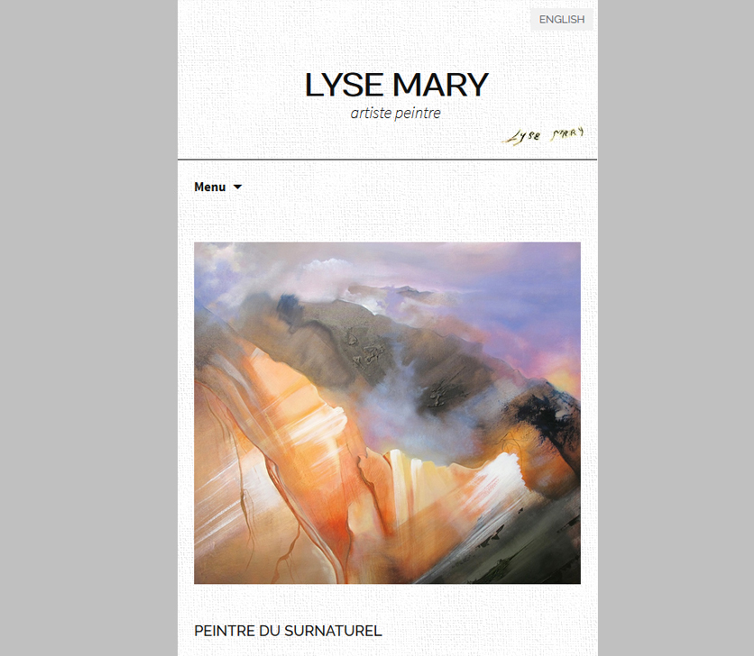 Mobile Design Of The Website Of The French PainterLyse Mary