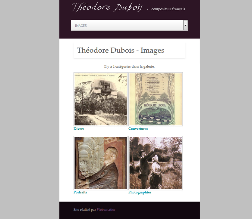 Mobile Version Of Theodore Dubois Website