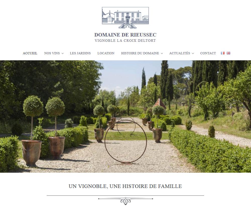 Web Design: Domaine De Rieussec, Hérault