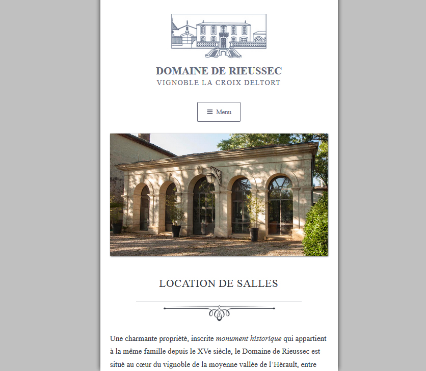 Responsive Website Design: Domaine De Rieussec