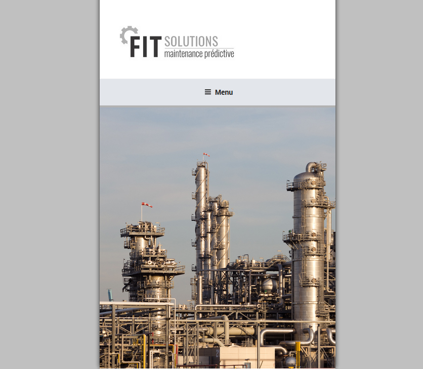 Site Web Responsive : FIT Solutions, Thermographie 34