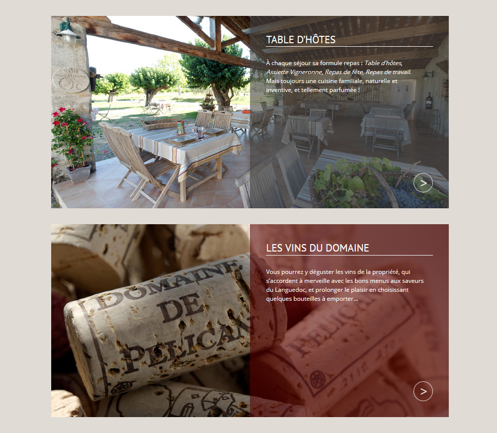 Website Design, Domaine De Pélican, South Of France