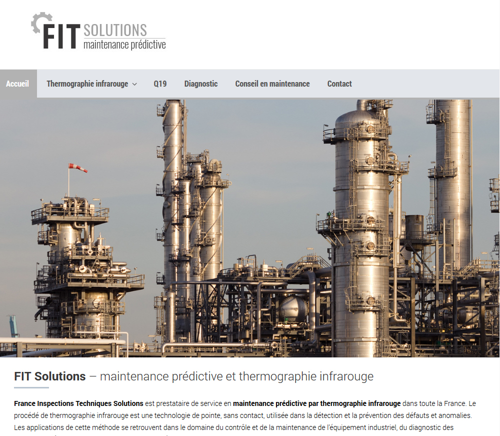 Web Design And SEO: FIT Solutions, Infrared Thermography, Hérault