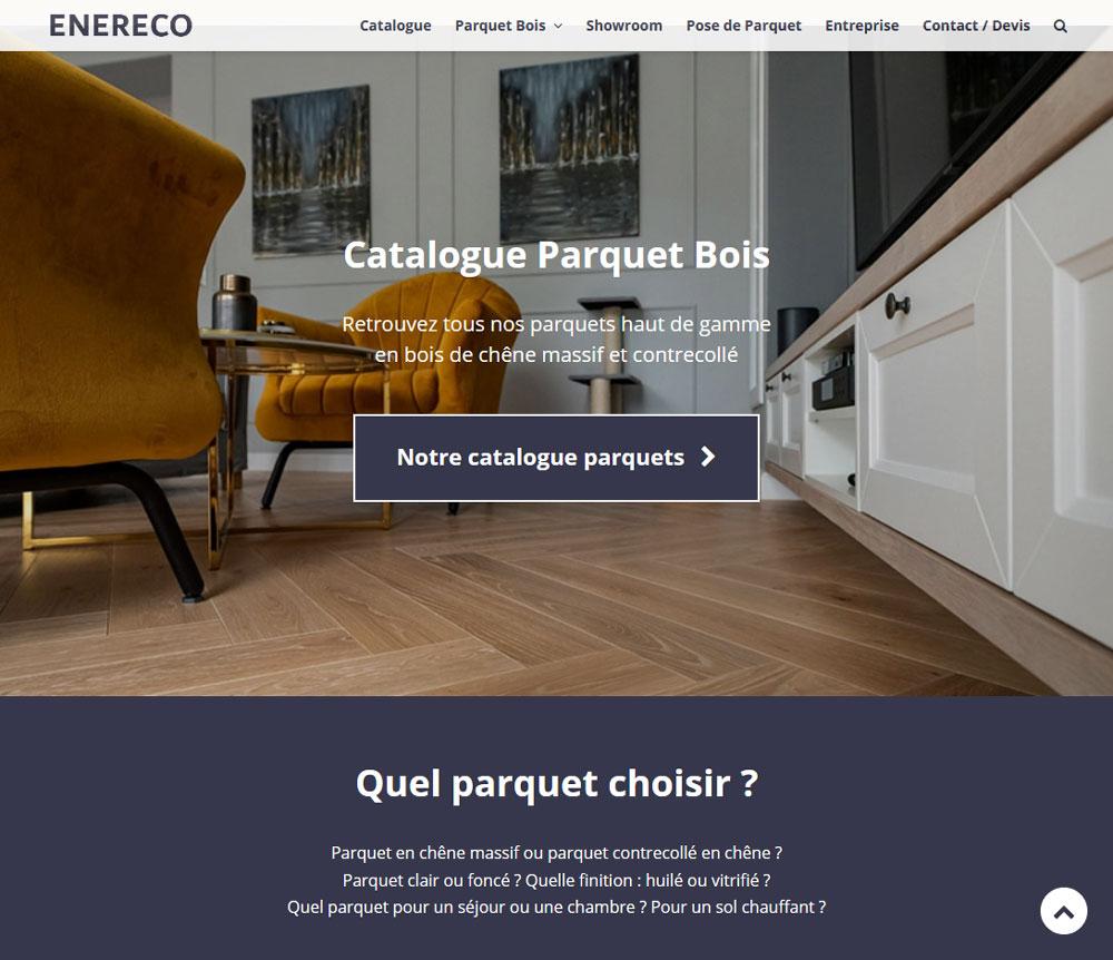 Creation Site Web ENERECO Parquet