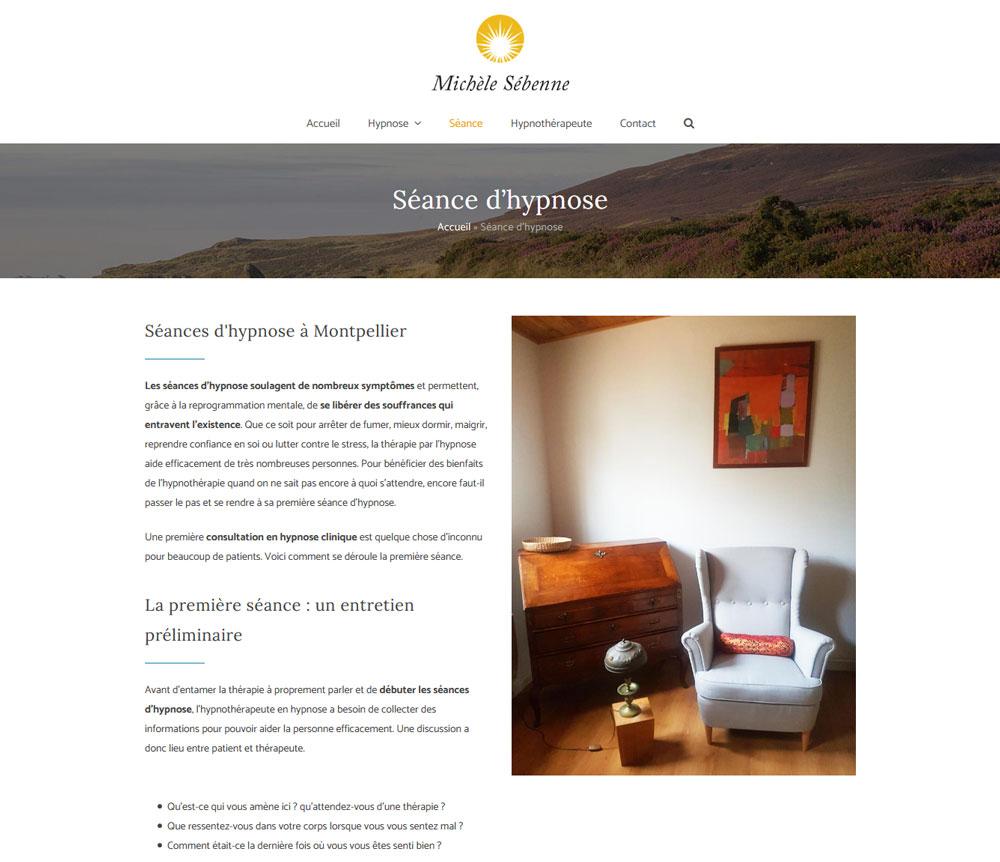 Hypnotherapist Web Design - Michèle Sébenne