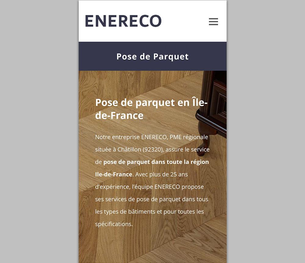 Site Internet Responsive ENERECO Parquet