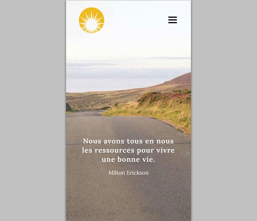 Site Vitrine Mobile - Michèle Sébenne, Hérault